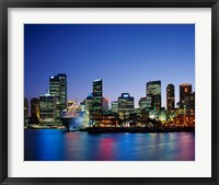 Framed Skyline and Cruise Ship at Night, Sydney, Australia