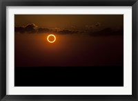 Framed Solar Eclipse with Ring of Fire
