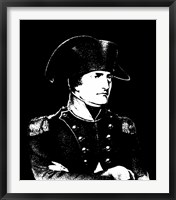 Framed Napoleon Bonaparte in uniform