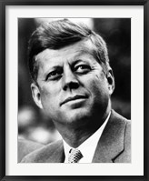 Framed Vector Portrait of John F Kennedy