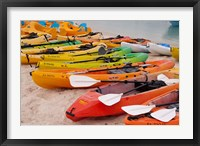 Framed Bahamas, Eleuthera, Princess Cays, beach kayaks
