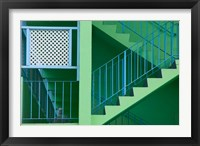 Framed Hotel Staircase (horizontal), Rockley Beach, Barbados
