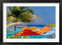 Framed Umbrellas and Shade at Castaway Cay, Bahamas, Caribbean