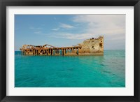 Framed Cement shipwreck, Barnett Harbour, Bahamas