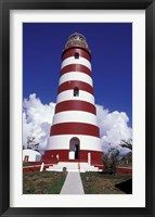 Framed Candystripe Lighthouse, Elbow Cay, Bahamas, Caribbean