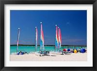 Framed Sailing rentals, Beach, Castaway Cay, Bahamas, Caribbean