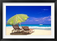 Framed Beach Umbrella, Abaco, Bamahas