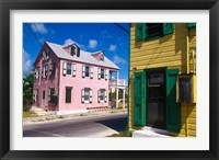 Framed Colorful Loyalist Home, Governor's Harbour, Eleuthera Island, Bahamas