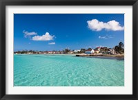 Framed Bahamas, Eleuthera Island, Tarpum Bay, town beach