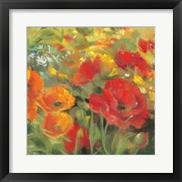 Framed Oriental Poppy Field I