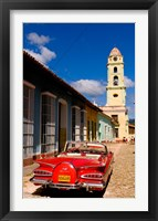 Framed Old worn 1958 Classic Chevy, Trinidad, Cuba