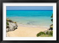 Framed Serene Drew's Bay Beach, Bermuda