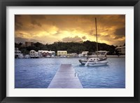 Framed View of Flatts Village, Bermuda, Caribbean