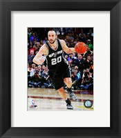 Framed Manu Ginobili 2014-15 Action