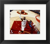 Framed LeBron James 2014-15 slam dunk