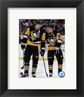 Framed Evgeni Malkin & Sidney Crosby  2014-15 Action