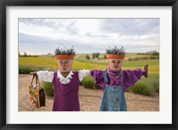 Framed Scarecrows at a lavendar farm in SE Washington