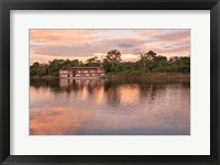 Framed Delfin river boat, Amazon basin, Peru