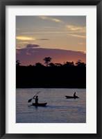 Framed Sunset over Amazon River Basin, Peru