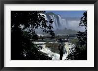 Framed Salto Floriano, Iguacu National Park, Parana, Brazil