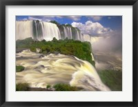 Framed Brazil, Igwacu Waterfalls into the Igwacu River