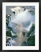 Framed Igwacu Falls Thunders, Brazil