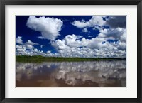 Framed South America, Peru, Amazon Cloud reflections on Amazon river