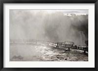 Framed Lookout Engulfed in Mist, Iguassu Falls, Brazil