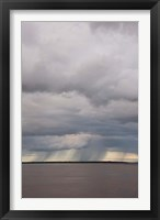 Framed Brazil, Amazon River Rainstorm during the wet season in the Amazon