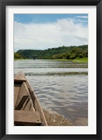 Framed Brazil, Amazon, Valeria River, Boca da Valeria Local wooden canoe