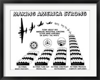 Framed Making America Strong - Airplanes