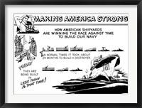Framed Making America Strong - Shipyards