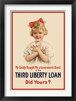 Framed Third Liberty Loan Poster