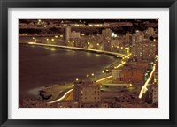 Framed Malecon at Night, Havana, Cuba