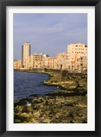 Framed Malecon, Waterfront in Old City of Havana, Cuba