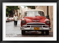 Framed Cuba, Havana, Havana Vieja, 1950s classic car