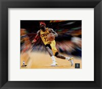 Framed LeBron James Motion Blast