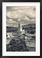 Framed Cuba, Sancti Spiritus, Trinidad, town view (black and white)