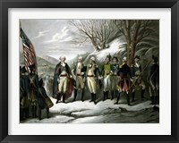 Framed General George Washington and his Military Commanders