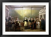 Framed General George Washington Resigning His Commission