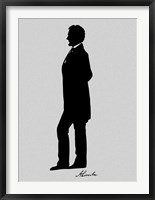 Framed Silhouette of President Abraham Lincoln with Signature