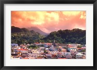 Framed Roseau, Dominica, Caribbean