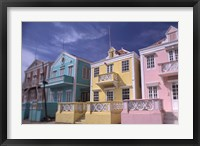Framed Caribbean architecture, Willemstad, Curacao