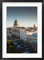 Framed Cuba, Havana, Capitol Building, Parque Central