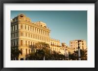 Framed Cuba, Havana, Havana Vieja, Hotel Saratoga, sunset
