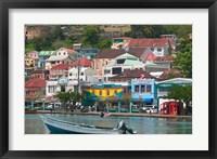 Framed Shops, Restaurants and Wharf Road, The Carenage, Grenada, Caribbean