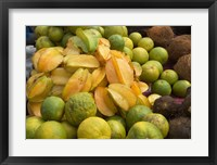 Framed Star Fruit and Citrus Fruits, Grenada, Caribbean