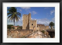 Framed Fort Ozama, Santo Domingo, Dominican Republic, Caribbean