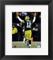 Framed Aaron Rodgers 2014 Action