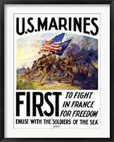 Framed US Marines First